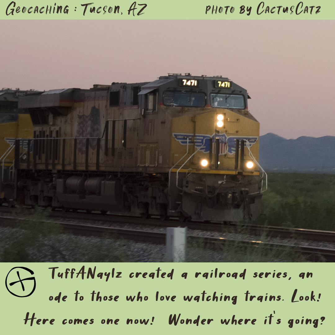 Geocaching in Tucson : Sunset Train