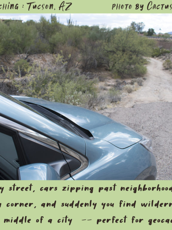 Geocaching in Tucson : urban wilderness areas