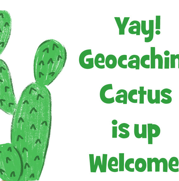 Yay! Geocaching Cactus is up